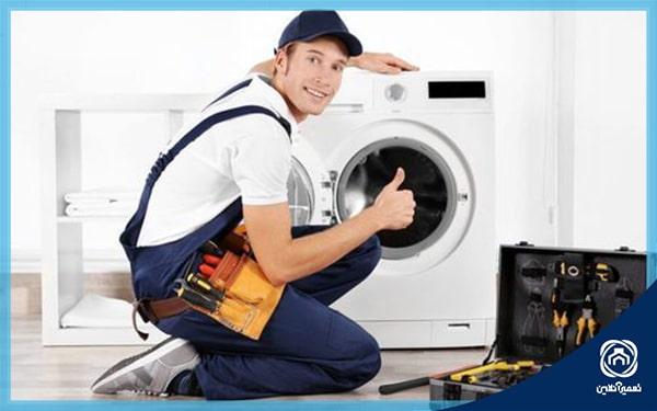ارور AE یا EI در ماشین لباسشویی ال جی