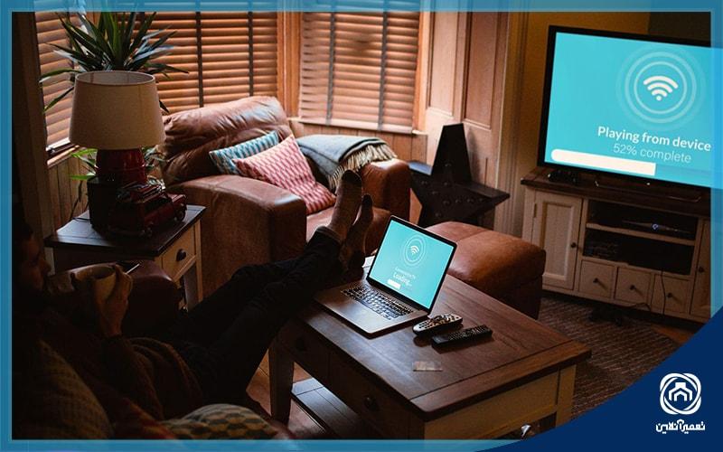 اتصال لپتاپ به تلویزیون با وایرلس