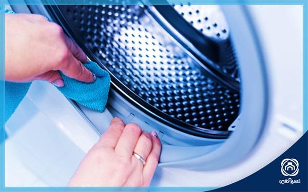 نحوه تمیزکردن لاستیک ماشین لباسشویی