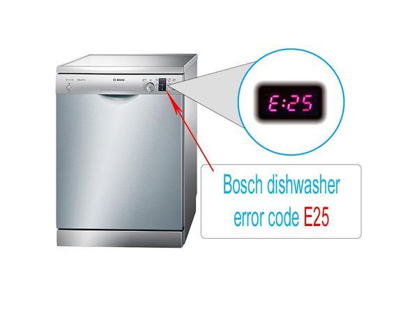 ارور E25 ماشین ظرفشویی بوش