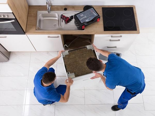 نحوه باز کردن لوله فاضلاب ماشین ظرفشویی