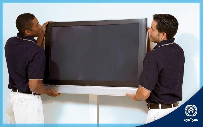نصب تلویزیون بر دیوار