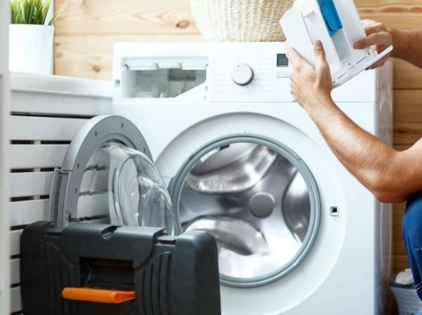 علت بیرون ریختن آب از جاپودری ماشین لباسشویی