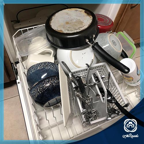 علت سر و صدای ماشین ظرفشویی