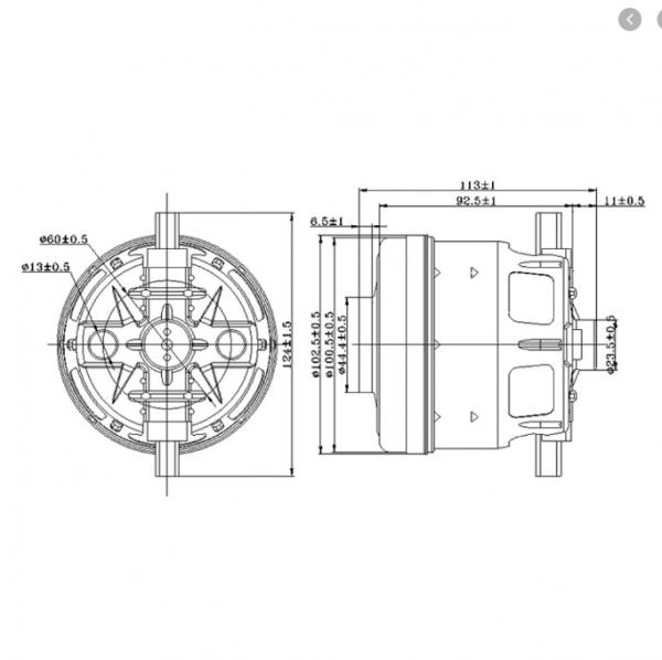 موتور اصلی جاروبرقی بوش