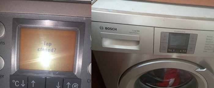 کد خطاهای لباسشویی بوش