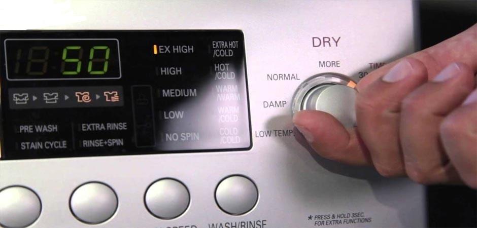 مراحل ریست کردن لباسشویی بوش