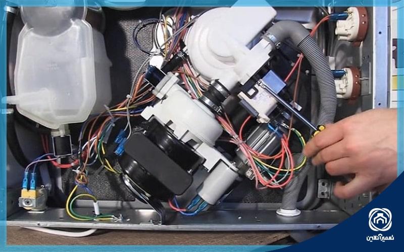 خرابی شیر الکتریکی یکی از دلایل تخلیه نشدن آب ماشین لباسشویی است
