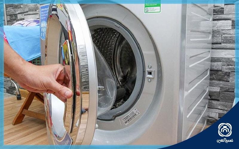قفل شدن درب ماشین لباسشویی بوش