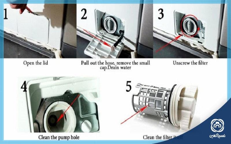تمیز کردن شیر تخلیه