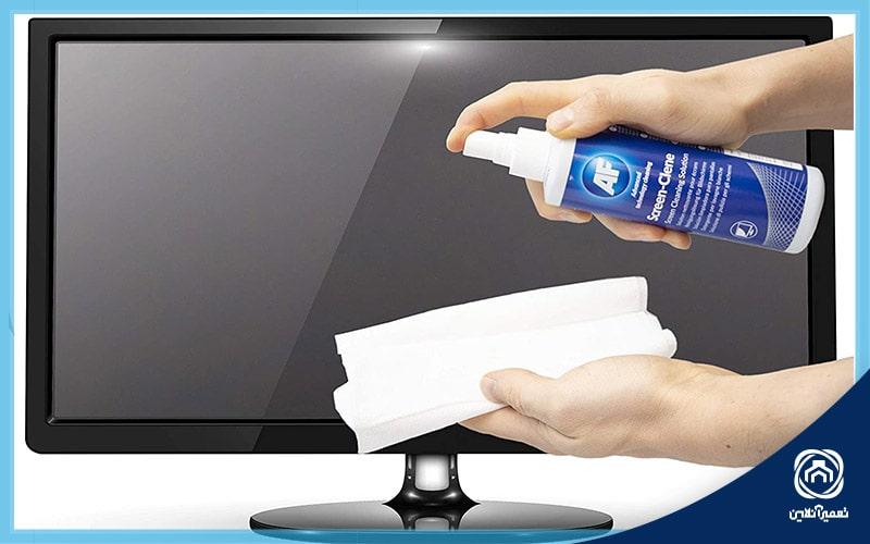 تمیزکردن صفحه تلویزیون